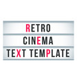 marquee sign lightbox signage retro cinema or vector image