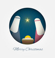 merry christmas banner nativity vector image