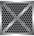 metallic grid vector image