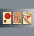 minimal geometric design backgrounds set vector image vector image