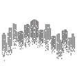 modern city skyline city silhouette vector image