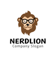 Nerd Lion Design vector image vector image