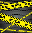 No entry sing with aluminum metal background Steel vector image vector image
