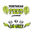 organic and vegan logo labels vector image