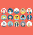 people avatar face collection icons vector image