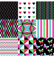 pop patterns set vector image vector image