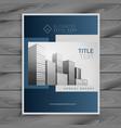 professional blue company brochure template design vector image vector image