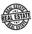real estate round grunge black stamp vector image vector image