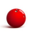 red bowling ball isolated on white vector image vector image