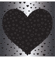 Romantic silver foil design with hearts Valentine vector image