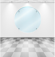 Room with round glass placeholder vector image vector image