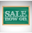 Sale now on - the inscription chalk vector image vector image