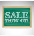 Sale now on - the inscription chalk vector image