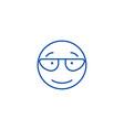 scientist emoji line icon concept scientist emoji vector image