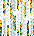 seamless pattern with flat braids endless stylish vector image vector image
