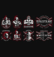 set badges with ancient warriors vector image vector image