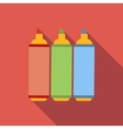 Set of markers flat icon vector image vector image