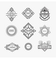 set vintage linear thin line geometric shape vector image vector image