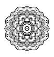 simple floral mandala vector image vector image