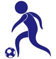 Sport icon with man playing soccer vector image