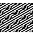 Striped 3D Hemisphere Pit Hole Seamless Pattern vector image