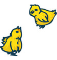two little chickens vector image vector image
