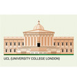 ucl university college london vector image vector image