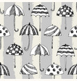 umbrelle sketch pattern stripe vector image