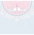 valentine hand draw doves pink background vector image vector image