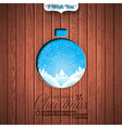 Engraved Merry Christmas and Happy New Year vector image