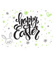 hand lettering greetings text - happy vector image