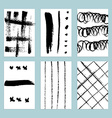 Sketch set of grunge tags vector image