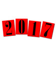 2017 red cards vector image vector image