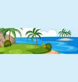 a summer island landscape vector image