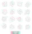 Abstract triangles design vector image vector image