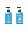 alcohol sanitizer gel bottle template collections vector image vector image