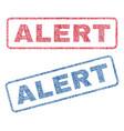 alert textile stamps vector image vector image