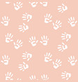 baby handprints seamless pattern for girls vector image vector image