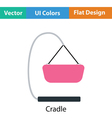 Baby hanged cradle icon vector image