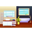 Bathroom Interior Design Composition vector image