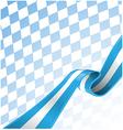 bavarian ribbon flag on background vector image