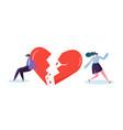 broken heart people lover concept sad young man vector image