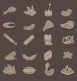 Brown flat beer snacks vector image vector image