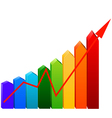 business graph with arrows vector image