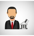 business man icon vector image vector image