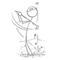 cartoon of male golf player vector image vector image