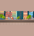 city building houses view summer street green vector image vector image