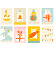 Collection of birthday banner vector image vector image