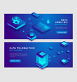 data analysis and transaction concept banner vector image
