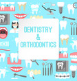 dentistry and orthodontics poster vector image vector image